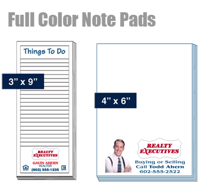 Note Pads Full Color Print At One Price
